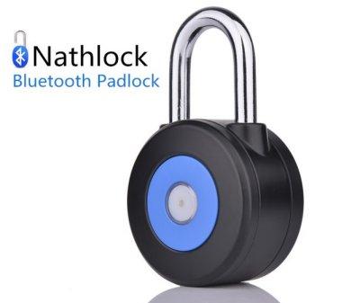 nathlock-Smart-Bluetooth-40-Vorhngeschloss-Ihr-Bike-Schuppen-oder-sogar-Ihr-Gym-locker-mit-einem-Robust-und-Retro-Smart-Vorhngeschloss-Keine-Notwendigkeit-fr-Kombinationen-oder-Schlssel-von-der-nathlo