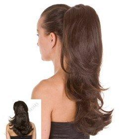 black ponytail hairpiece