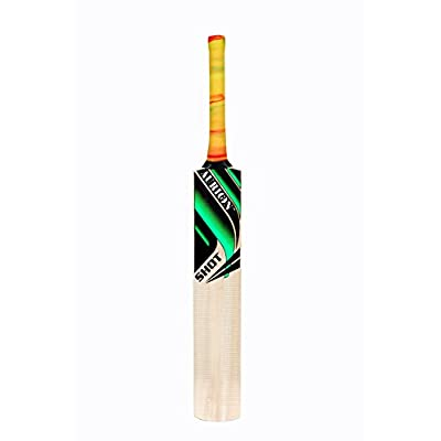 New Aurion Shot Kashmir Willow Cricket Bat For Leather Ball ...full size thick edges