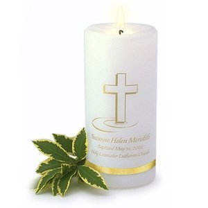 A Gift Personalized Baptismal Candle