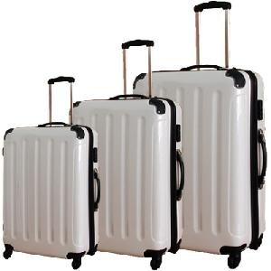 Polycarbonat Trolley Kofferset 3 teilig weiß