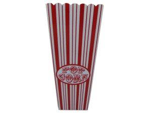 Red Striped Popcorn Bucket
