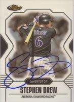 Stephen Drew Arizona Diamondbacks 2007 Topps Finest Autographed Hand Signed Trading... by Hall+of+Fame+Memorabilia