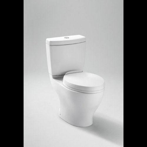 TOTO CST412MF.01 Aquia Dual Flush Elongated Two-Piece Toilet, 1.6GPF & 0.9GPF, Cotton White