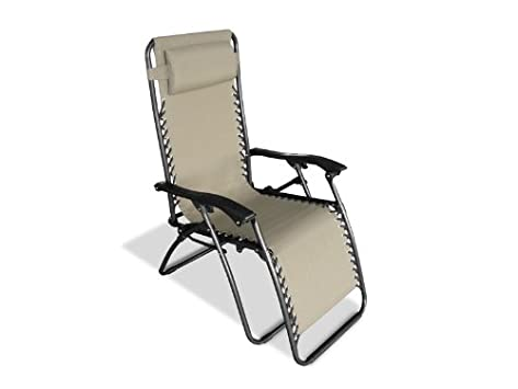 Caravan Sports Infinity Zero Gravity Reclining Chair with Adjustable Headrest, Beige