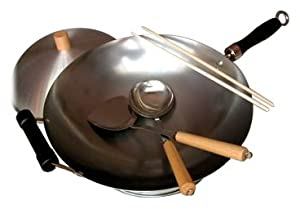 6 Pc Round Bottom Wok Set - Taylor & Ng by Taylor and Ng