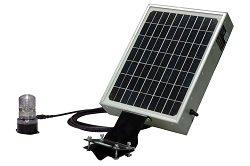 Solar Powered Led Beacon - 3 Watt Led Beacon - Continuous Use(-Surface Mount-Red-Motion Sensor)