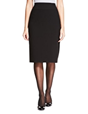 M&S Collection Knee Length Panelled Pencil Skirt