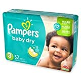 Pampers Baby Dry Diapers - Size 3 - 32 ct