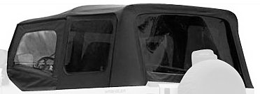 Rampage Jeep 68215 Denim Black Complete Replacement Soft Top with Frame and Hardware (Jeep Yj Top compare prices)