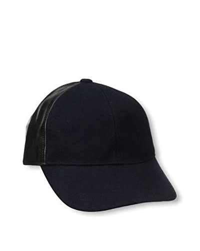 August Hat Company Women's PU/Wool Baseball Cap, Navy/Black