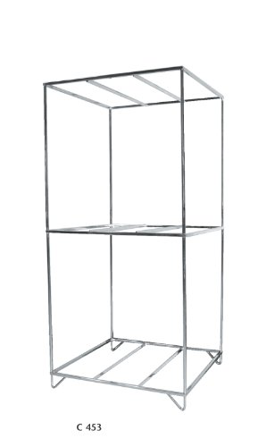 "Topline C453 Chrome 56"" 3 Tier Wheel Rack"