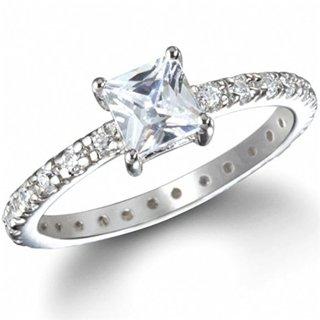 Dakota's 1 Carat Princess Cut CZ Promise Ring - 9