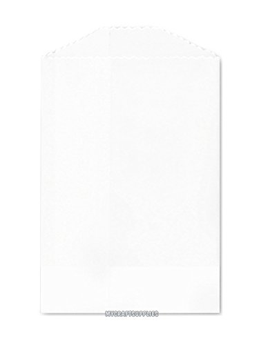 50 White Flat Little Bitty Paper Bags 2.75 x 4 Inches (Little Bitty Bakery compare prices)