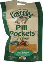Greenies Feline Pill Pockets Chicken -- 1.6 oz(packof2)