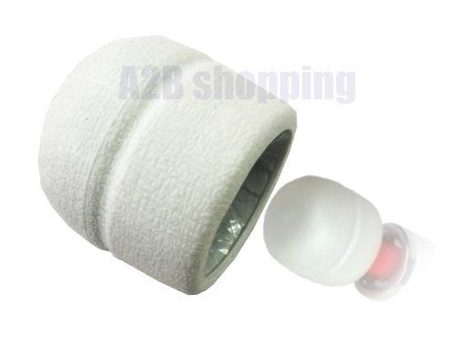 WHITE REPLACEMENT HEAD CAP / FOR Magic Wand Massager Also Fits Hitachi