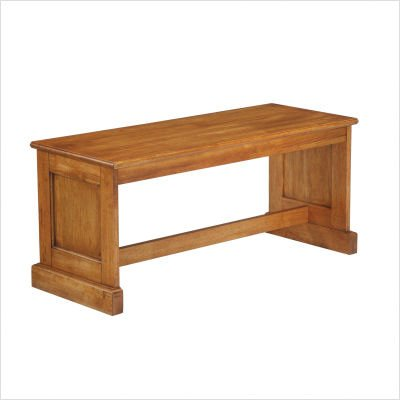 Home Styles Rectangular Kitchen Dining Nook Bench in Distressed Oak Finish
