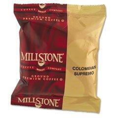 Millstone 84969729 - Gourmet Coffee, Colombian Supremo, 1 3/4 Oz Packet, 24/Carton