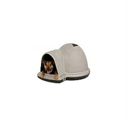 Petmate indigo dog house with microban medium taupe top for Indigo dog house