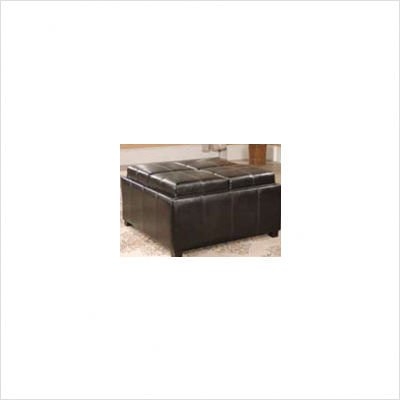 Square Ottoman with Four Top Convertible Cushions