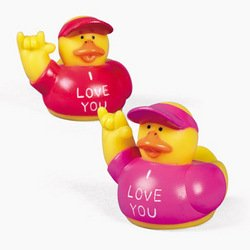 "One Dozen (12) ""I Love You"" Rubber Ducky Party Favors front-1055491"