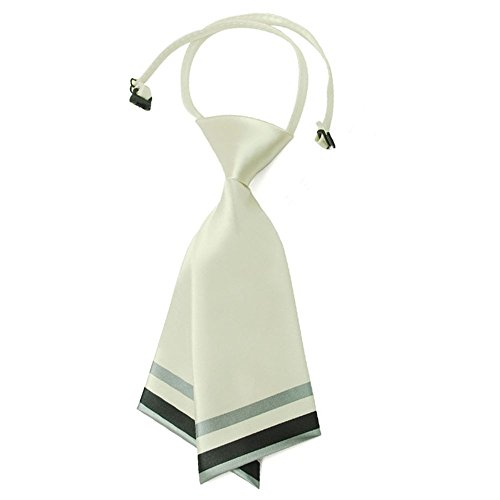 Hanerdun® Fashion Lady's Pre-Tied Silk Necktie Women's Costume Accessory Milkwhite