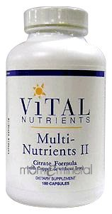 Multi-Nutrients II Citrate Form 180c by Vital Nutrients