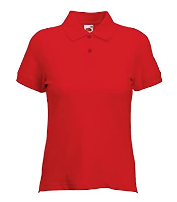 Fruit of the Loom Women's Short SleevePolo Shirt Red red Size:S