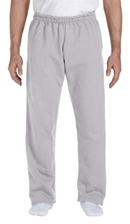 Gildan DryBlend Open Hem Sweatpant-S (Sport Grey)