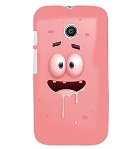 Printvisa Animated Pink Cartoon Back Case Cover for Motorola Moto E XT1021::Motorola Moto E (1st Gen)