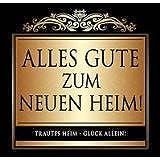 Udo Schmidt Aufkleber Flaschenetikett Etikett Alles Gute zum Neuen Heim gold elegant