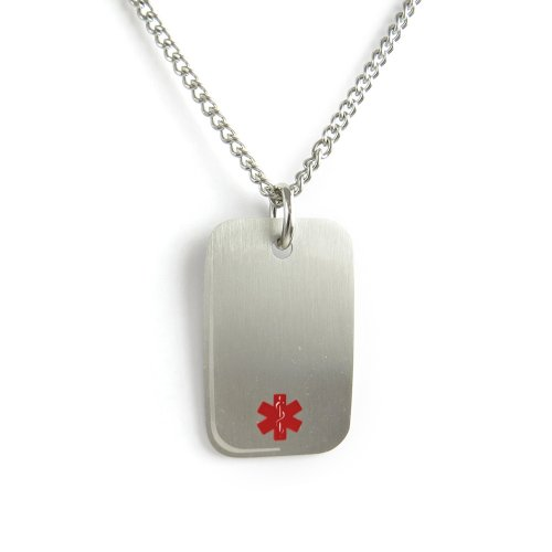 myiddr-blood-thinners-medical-alert-dog-tag-necklace-stainless-steel-pre-engraved-red-22in-56cm