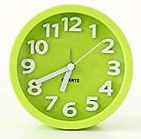 JustNile 3D Modern 5-inch Round Bedside Alarm Clock - Green