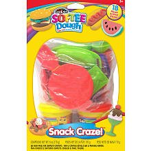 Cra-Z-Art Softee Dough 18 Pc Snack Shop Super Soft Modeling Compound Play Set