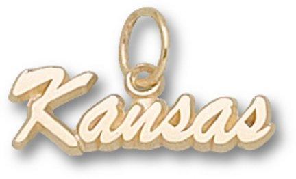 Kansas Jayhawks 10K Gold Script ''KANSAS'' Pendant