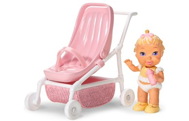 Strolling with Baby Caring Corners Dollhouse Play Set with Infant and Stroller