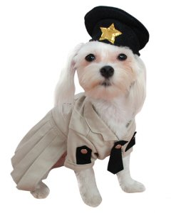 Adorable Dog Sheriff Pet Costume Size Medium
