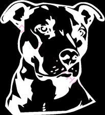 Pitbull Side Face WHITE Vinyl Car/Laptop/Window/Wall Decal (Window Decals Pitbull compare prices)