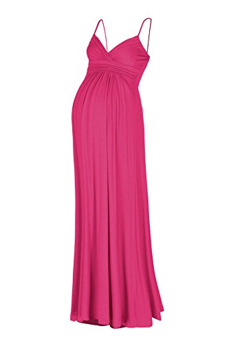 Beachcoco Women's Maternity Sweetheart Party Maxi Dress (L, Hot Pink) (Hot Pink Maxi Dress compare prices)