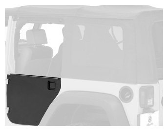 Bestop 51804-01 Black Highrock 4X4 Element Rear Door Enclosure Kit For Wrangler Jk Unlimited- Rear Doors Only