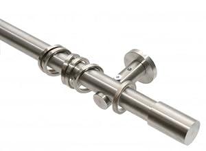 GARDUNA Gardinenstange Ø 20mm Roller, 1lauf, edelstahl (120cm)    Überprüfung und Beschreibung