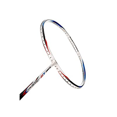 Li-Ning X77 Turbo Carbon Fiber Badminton Racquet, Size S2 (White)