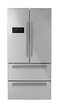 Beko GNE60521X - frigo américain (Autonome, Acier inoxydable, Porte française, A+, LED, SN, T)