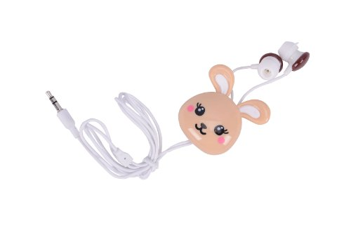 Random Style Cute Animal Cartoon In-Ear Earphone Headset Rabbit Frog Monkey Design