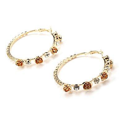 Fashion 6cm stieg goldene Kupfer Creolen (1 Paar)