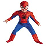 Disguise Marvel Spider-Man Toddler Muscle Costume, Large 4-6