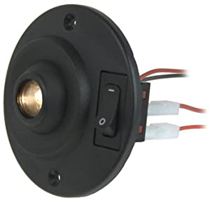 Overhead dome light eyeball LED fixture for RV, Boat, Car, Auto or Truck - Italian Made, 12 or 24 Volt (LED bulb) Prima brand