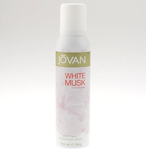 Jovan Deodorant Spray for Women, White Musk, 5 Ounce by Jovan