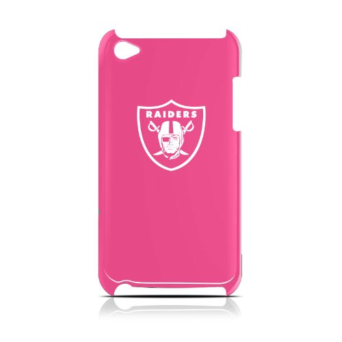 NFL Oakland Raiders Varsity Jacket Hardshell Case for iPod Touch 4G, Pink, 4.4x2.4-Inch at Amazon.com