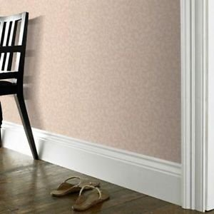 Fabric Effect Scroll Wallpaper - Beige by New A-Brend